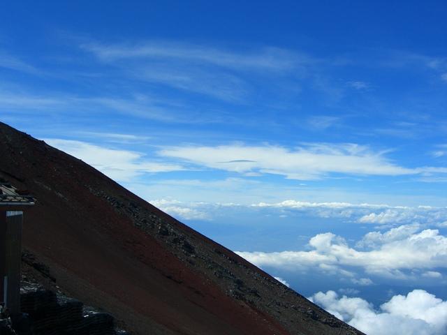 下界では味わえない絶景を富士山(登山後に世界文化遺産に登録)から頂いた