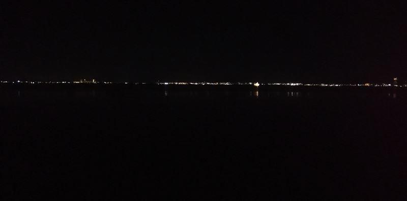 滋賀県、びわ湖の琵琶湖大橋以南=南湖=を昼夜かけてのハイキングで一周・・約40Km?
